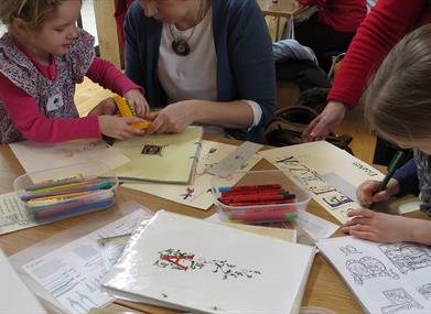 Wells Cathedral Free Half Term Family Calligraphy Workshop