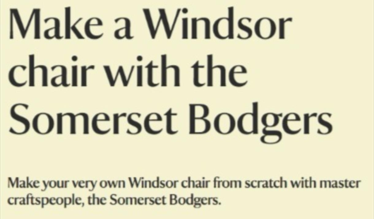 Make a Windsor chair with the Somerset Bodgers