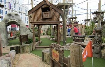 Pirate Adventureland Weston-super-Mare mini golf climbing nets