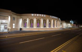 winter gardens exterior weston-super-mare at night